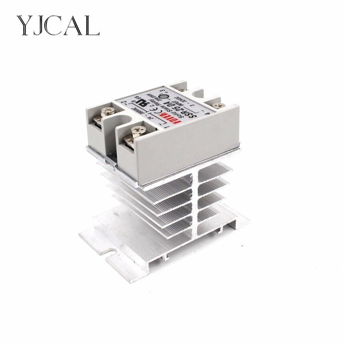 Mini relais à semi-conducteurs monophasé SSR radiateur de Dissipation thermique en aluminium plus récent support de Rail pour relais 10A-40A