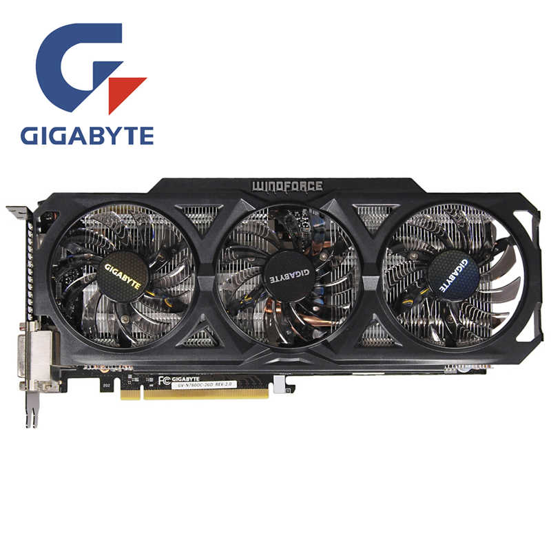 GIGABYTE GV-N760OC-2GD видео карты 256Bit GDDR5 GTX 760 N760 Rev.2.0 Графика карты для nVIDIA Geforce GTX760 Hdmi Dvi карты