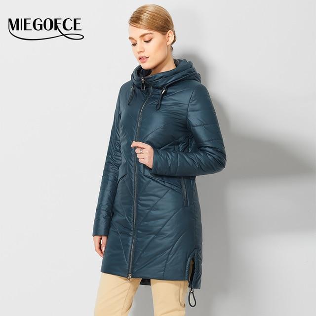 2017 MIEGOFCE новые Весенние дизайны женские парки женские куртки с капюшоном теплое модные женские пальто для мамы