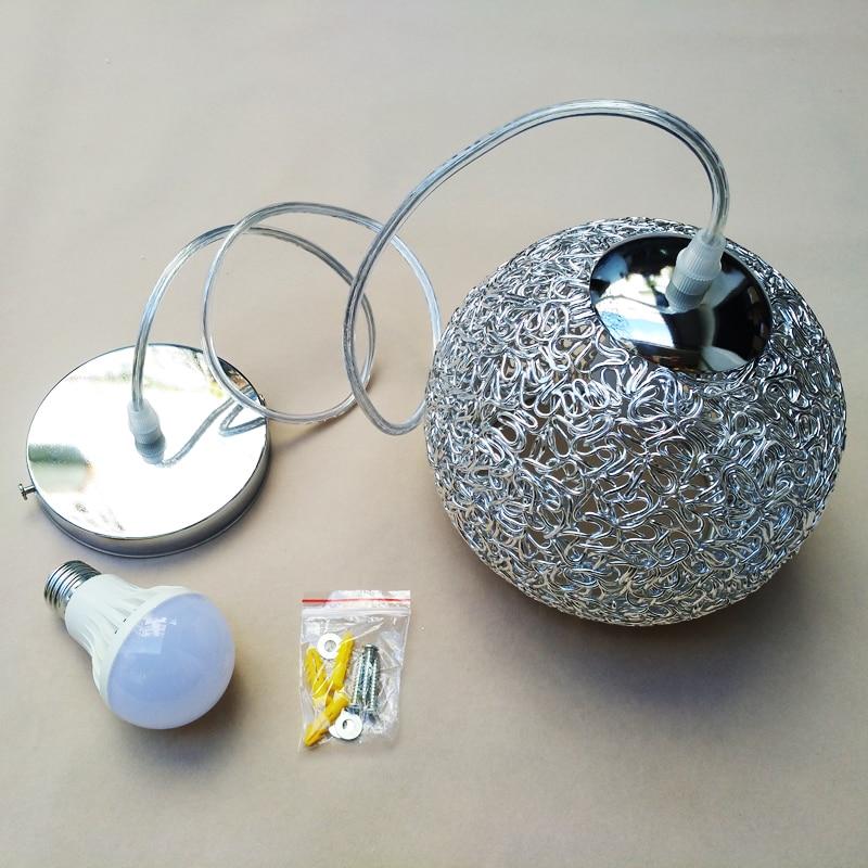 Купить с кэшбэком Kitchen Island Pendant Light Bar Modern Lights Bedroom Aluminum Lighting Office Silver Ceiling Lamp Bulb Include 1pcs Lamp