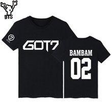 KPOP GOT7 Kpop BAMBAM TShirts JB Jackson Short Sleeve T-shirts with GOT 7 Kpop Hip Hop T Shirt Women in Tee Shirt Women