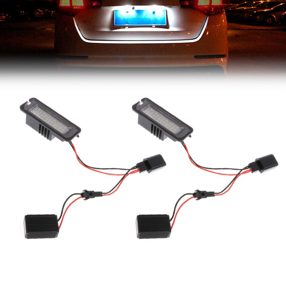 2pcs LED Number License Plate Light For VW GOLF MK4 MK5 MK6 PASSAT EOS ERROR FREE брюки girlfriend chanel