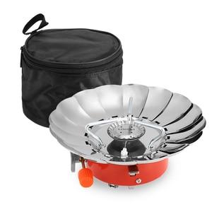 Image 2 - Lixada 2800W extérieur pliant coupe vent piézo allumage cuisinière à gaz Camping sac à dos cuisinière ustensiles de cuisine