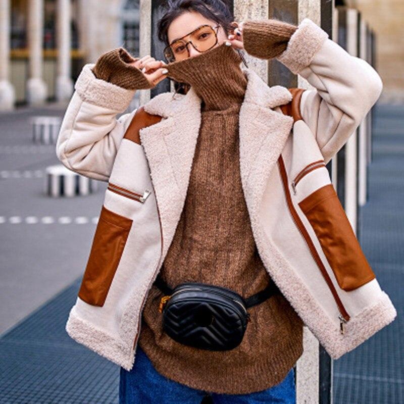 Dames As Tempérament L'équipement Qualité 2019 D'hiver Épais Coton Couture Courte Picture Agneaux De Boutique Laine Veste Manteau Mode Rembourré Haute 7USRwqnS