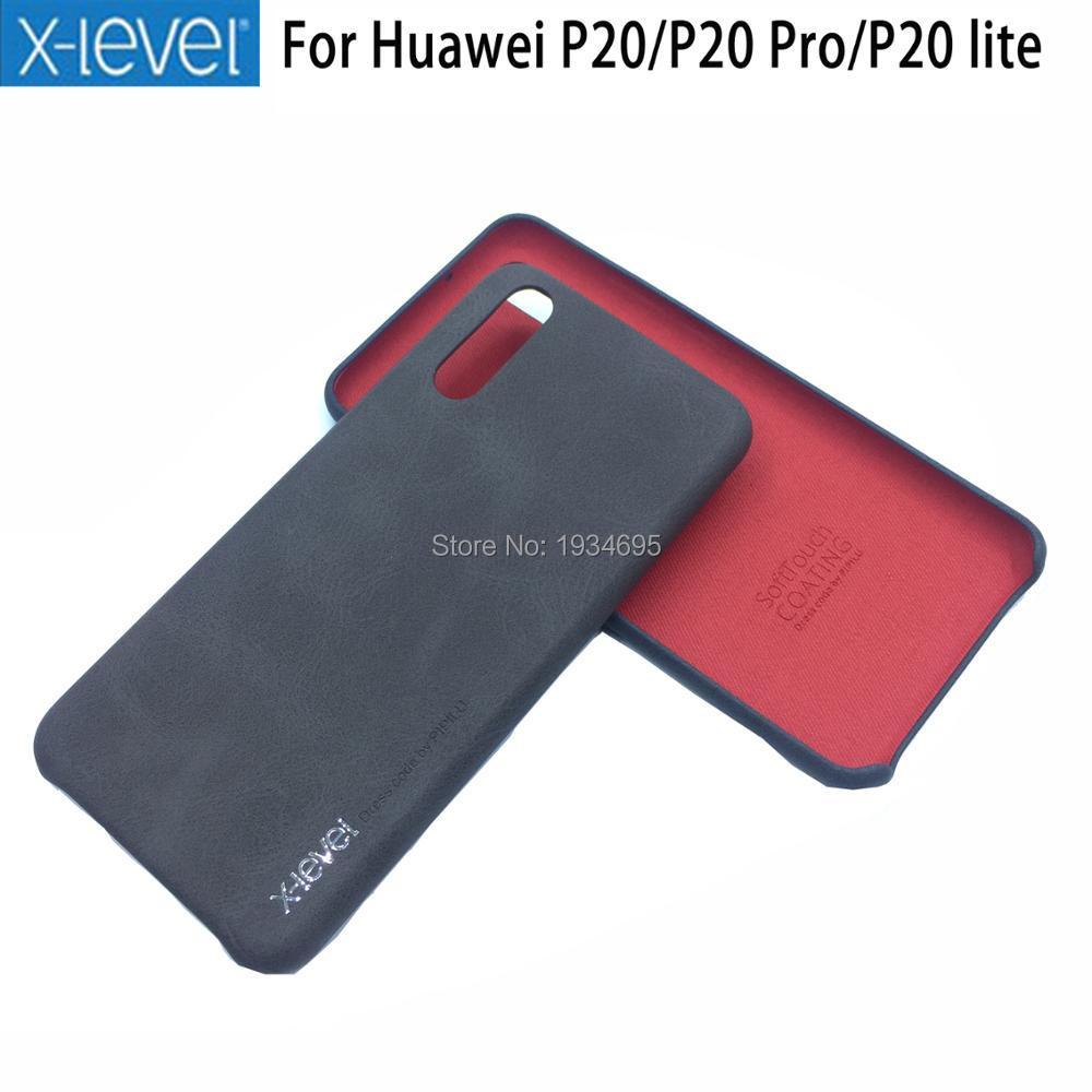HUAWEI P20 Pro Fall Ebene PU Leder Telefon Zurück abdeckung Für Huawei P20 P20 Pro P20 Lite Handy fall
