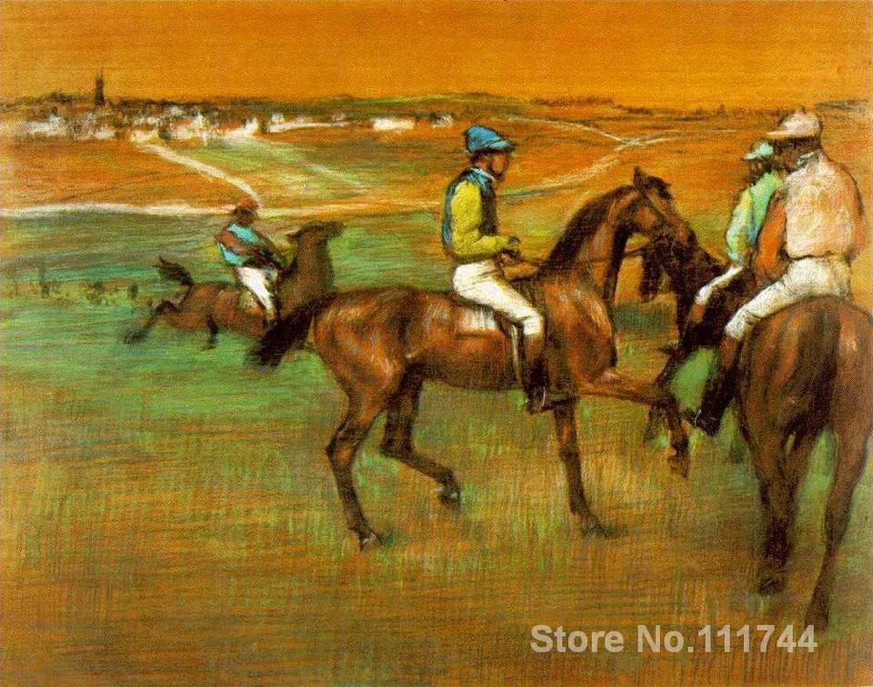 Canvas Art Race Horses 88 Edgar Degas