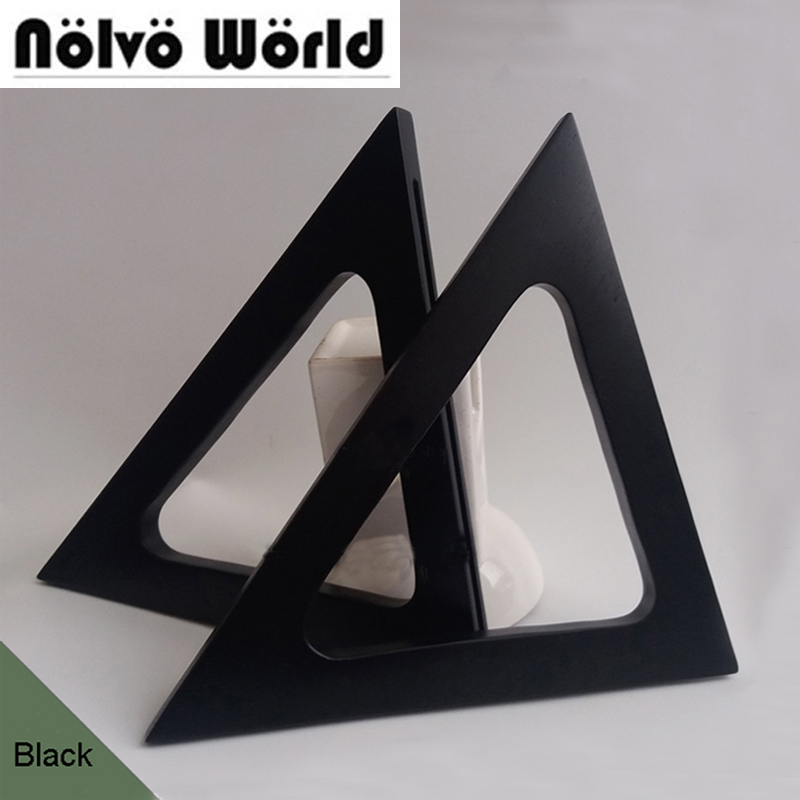 1 Pair=2 Pieces,24*15.5cm Pair Of Black Big Triangle Wood Handbags Handle,Replacement Wooden Black Bag Purse Triangle Handle