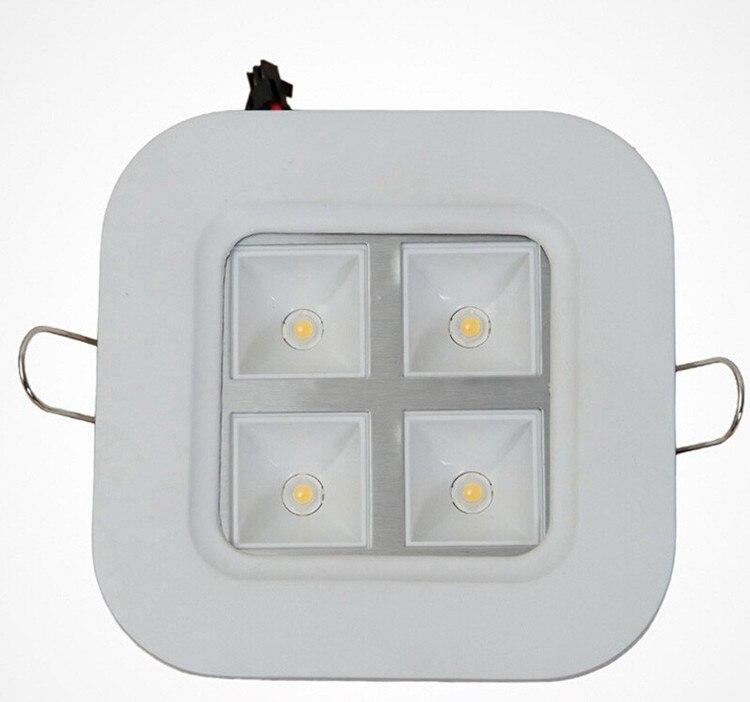 Бесплатная доставка Высокое качество 4 Вт затемнения Встраиваемые Решетка Светодиодный свет 100*100 мм домашнего офиса и школы светодиодные …
