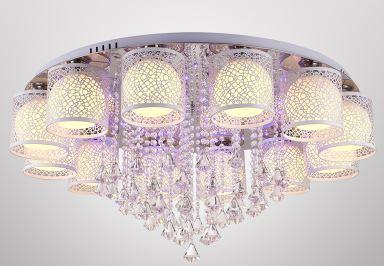 Lampe de salon minimaliste moderne led salle de mariage en cristal lampes de chambre chaudes et romantiques lustre de restaurant rondLampe de salon minimaliste moderne led salle de mariage en cristal lampes de chambre chaudes et romantiques lustre de restaurant rond