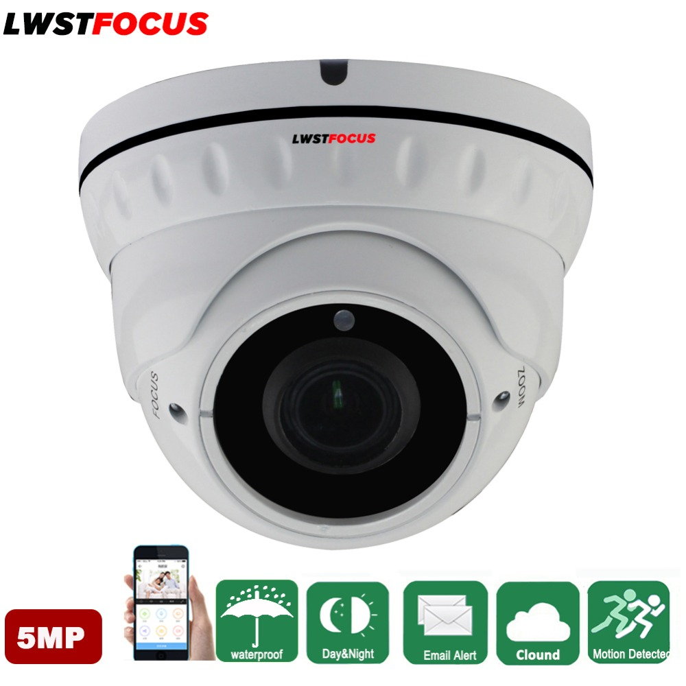 LWSTFOCUS ONVIF IP Camera 5MP H.265 H.264 POE Outdoor Vandalproof Security Camera Surveillance Video Dome Camera 48V PoE Onvif h 265 h 264 2mp 4mp 5mp full hd 1080p bullet outdoor poe network ip camera cctv video camara security ipcam onvif rtsp