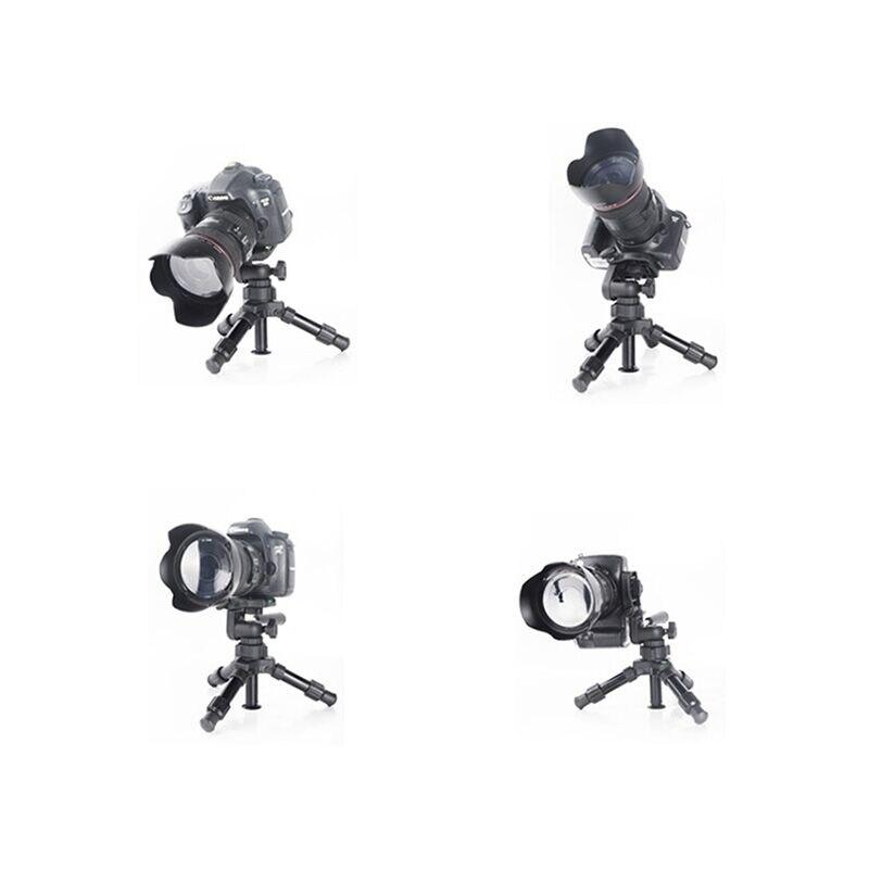 Nouveau Mini trépied en aluminium monopode caméscope vidéo trépied avec support de caméra à cardan à tête sphérique 1/4