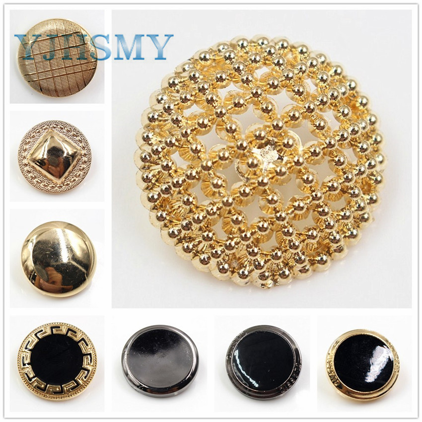 YJHSMY 177183 12pcs Metal Button Set more style -