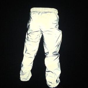 Image 3 - Pantalon jogging réfléchissant pour homme, hip hop, réfléchissant complet, pour la danse, le hip hop, costume de scène, hip hop, collection automne décontracté