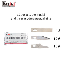 Kaisi 4# 6# 12# 10PCS/Set Precision Steel Blade Engraving Craft Sculpture Knife Scalpel Cutting Tool for PCB Repair