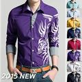 Бесплатная доставка новой летней 2016 топ мастер дизайн хлопок сетки сплайсинга мужская повседневная рубашки с рукавами М ~ 4XL