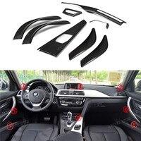 For BMW 3 Series F30 F34 GT F80 M3 & 4 Series F32 F33 F36 & M4 F82 Carbon Fiber Interior Trim Cover car sticker Only LHD 2012 UP
