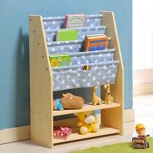 Children Bookcases Living Room Furniture Home Solid Wood Bookshelf Cabinet Book Stand 9028635cm Estanteria Infantil