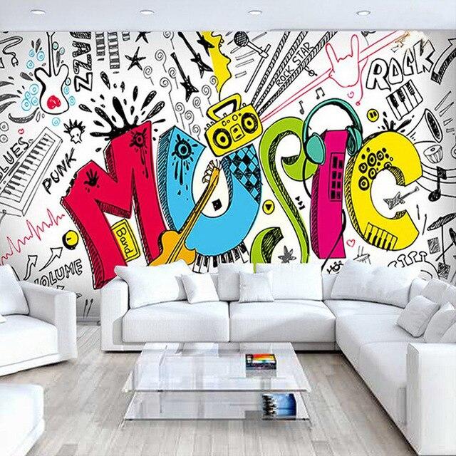 Moderne Einfache Musik Thema Foto Tapete Personlichkeit Kreative 3d