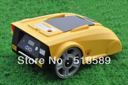 Бесплатная доставка Робот газонокосилка/косилки автомобиля LF008 новые Funciton с компасом + свинцово-кислотная батарея + пульт контроллер