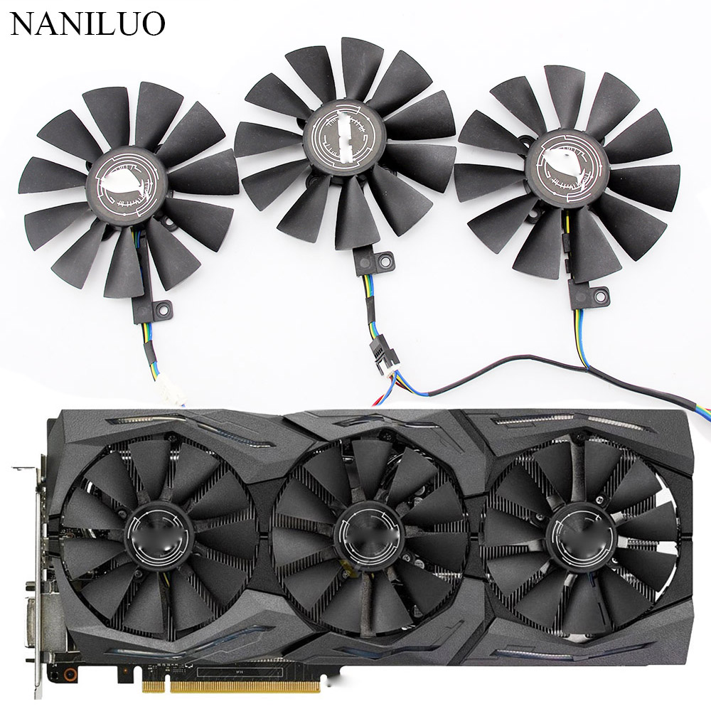 87MM T129215SU DC 12V 0.50AMP T129215SM 4Pin 4 Wire Cooling Fan For ASUS GTX980Ti R9 390X 390 GTX1070 GTX1060 Graphics Card Fans image