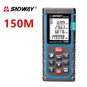SNDWAY Digital Laser distance Meter 150M 100M 80M 60M 50M 40M Laser Rangefinder Range finder trena Laser Tape measure hot 100m digital laser distance meter measure range finder area diastimeter y