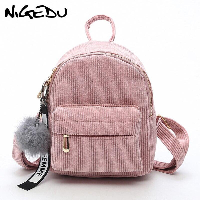 Милый бархатный рюкзак для подростков, детский мини рюкзак, Kawaii, маленькие рюкзаки для девочек, женские рюкзаки, меховая школьная сумка-0