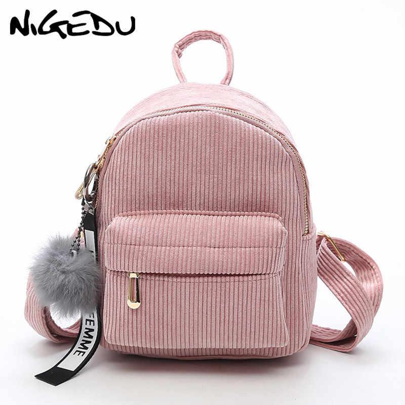 ec877c90b02f Милый бархатный рюкзак для подростков, детский мини-рюкзак, Kawaii, детские  ...