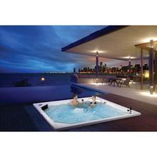 Krem do opalania i masaż antypękający jednoczęściowy wbudowany Hotel Star jacuzzi jacuzzi odkryty basen spa masaż hydroterapia tanie tanio KARICARE WS-PC02 8 osób Spa wanny Guangdong China (Mainland) Acrylic Gelcoat Massage swimming Whirlpool Massage Corner