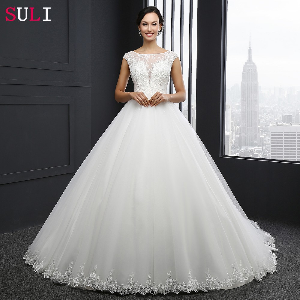 MZ-0031 New Arrival Princess Wedding Dress Custom Made Sequins Cap Sleeve Bride Dresses Tulle Wedding Dresses 2