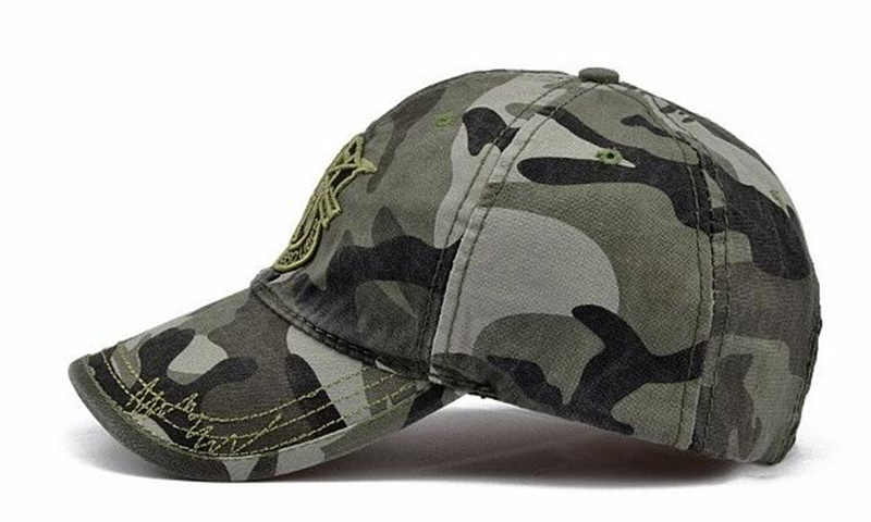 0b211f099ad ... TUNICA New Fashion Army Camo Baseball Cap Men Women Tactical Washed Sun  Hat Letter Adjustable Camouflage