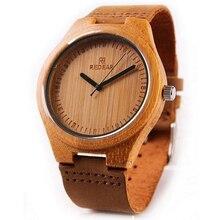 REDEAR Watches Men Luminous Hands Men's Watch Bamboo Wooden