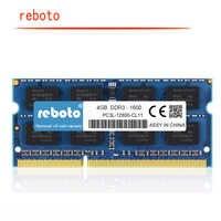 Reboto ハイニックス IC 4 ギガバイト DDR3L 1600 MHz DDR3 PC3L-12800 8 ギガバイト 1600 800mhz の Ram メモリ 204pin ノートブック 1.35 12v の低電圧