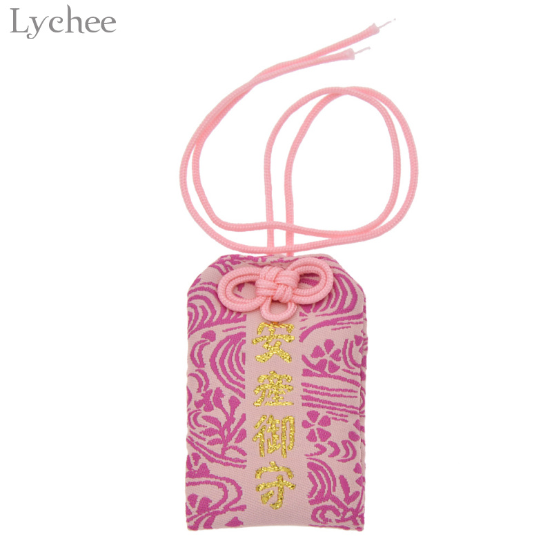 Lychee 1pc Japanese Style Gift Bag Good Fortune Love Safety Luck Accessory New Year Party Decoration