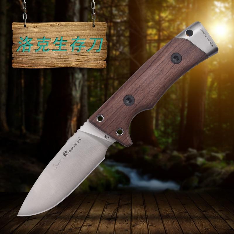 HX OUTDOORS Lok mango de madera táctico de alta dureza cuchillo - Herramientas manuales - foto 2