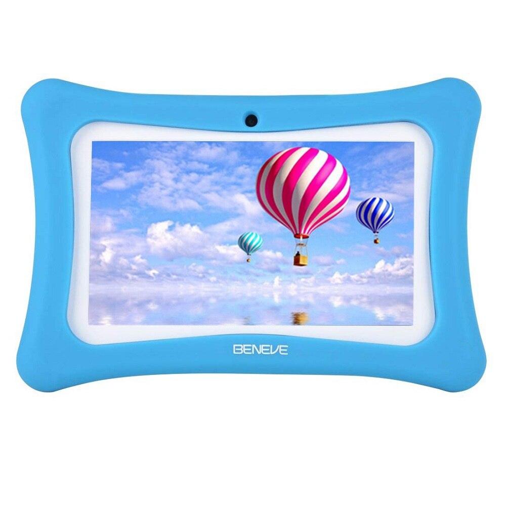 Máquina de aprendizaje para niños de 7 pulgadas Tablet PC 1g + 8 GB A7 Quad Core Android 7,1 de doble cámara de entrenamiento de idiomas de regalo de ordenador de juguete