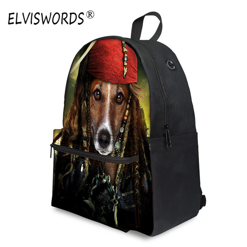 купить ELVISWORDS Pirate Bookbag 12 inch Mochila Escolar Children Backpacks School Bags for Boys Large Kindergarten Kids Backpack Purse онлайн