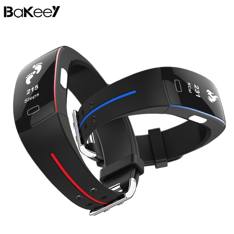 Bakeey P3 Smartwristband ECG+PPG Blood Pressure Heart Rate IP67 waterpoof Pedometer Sports Fitness Smart Wristband for Andro iOS fentorn p3 smart band support ecg ppg blood pressure heart rate monitoring ip67 waterpoof pedometer sports fitness bracelet
