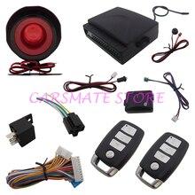 Универсальный One Way Автомобильная Сигнализация Системы Безопасности с 2 Remote Transmitters Suitable for DC 12 В Автомобили Carsmate