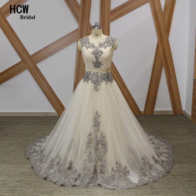 cca9f31a7dd Long Prom Dresses Champagne Color 2019 Bling Beaded Lace A Line Formal  Party Gowns Custom Made Arabic Prom Dress Robe De Soiree