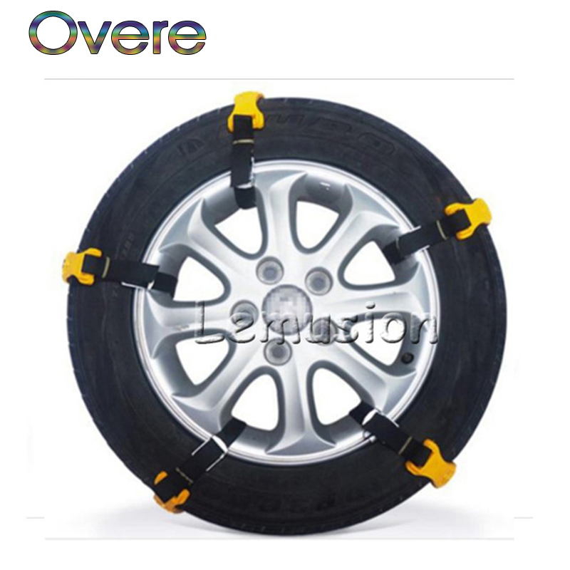 Overe 10Pcs Car Wheel Tyre Anti-skid TPU Chains For BMW E60 E36 E46 E90 E39 E30 F30 F10 F20 X5 E53 E70 E87 E34 все цены