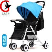 Folding Baby Stroller Mommy Stroller Portable Pram Lightweight Stroller Baby Carriage ZEL A6 D