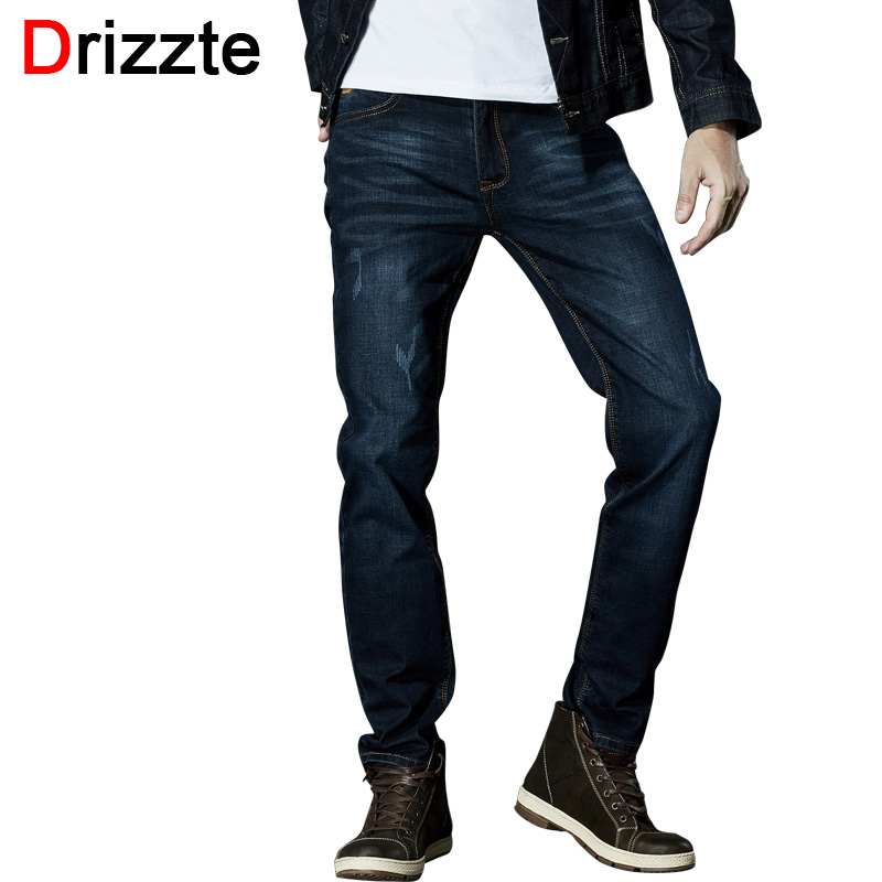 781344a1647 Drizzte Brand Men Stretch Denim Slim Jeans Black Blue Fashion Trendy Trousers  Pants Size 33 34 35 36 38 40 42 For Men s Jean - free shipping worldwide