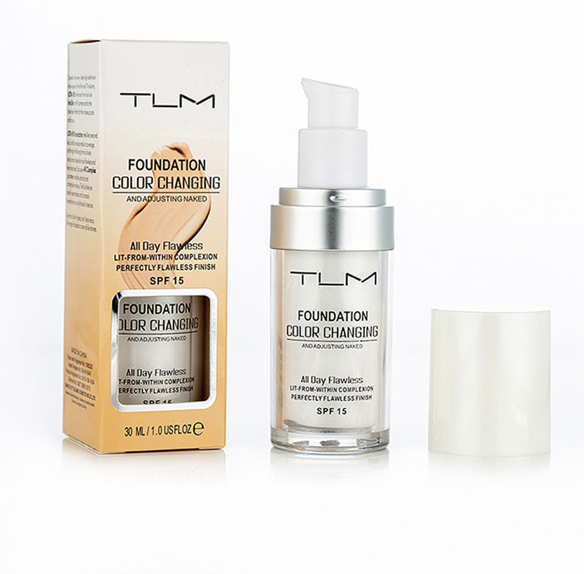 TLM 30ML Magic Concealer Color Changing Liquid Foundation