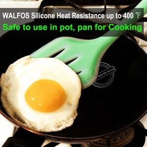 Image 3 - WALFOS Accesorios de utensilios para cocina de silicona de grado alimenticio, juego de utensilios de cocina resistentes al calor, espátula antiadherente, cuchara giratoria de cucharón