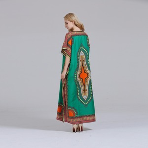 Image 5 - Dashikiage فستان داشيكي جديد أنيق للنساء 100% قطن أفريقي مطبوع ماكسي فيستدوس رداء أفريقي نسائي داشيكي