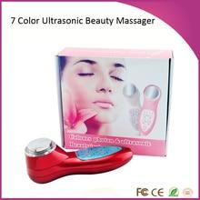 PDT 7 Colors Photon Led Skin Rejuvenation 3Mhz Ultrasound Deep Pores Cleansing Facial Beauty Massager  Machine