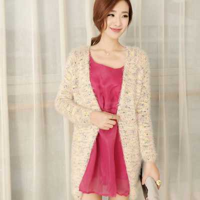 wool sweaters womens Cardigan Sweater coat long loose knit mohair