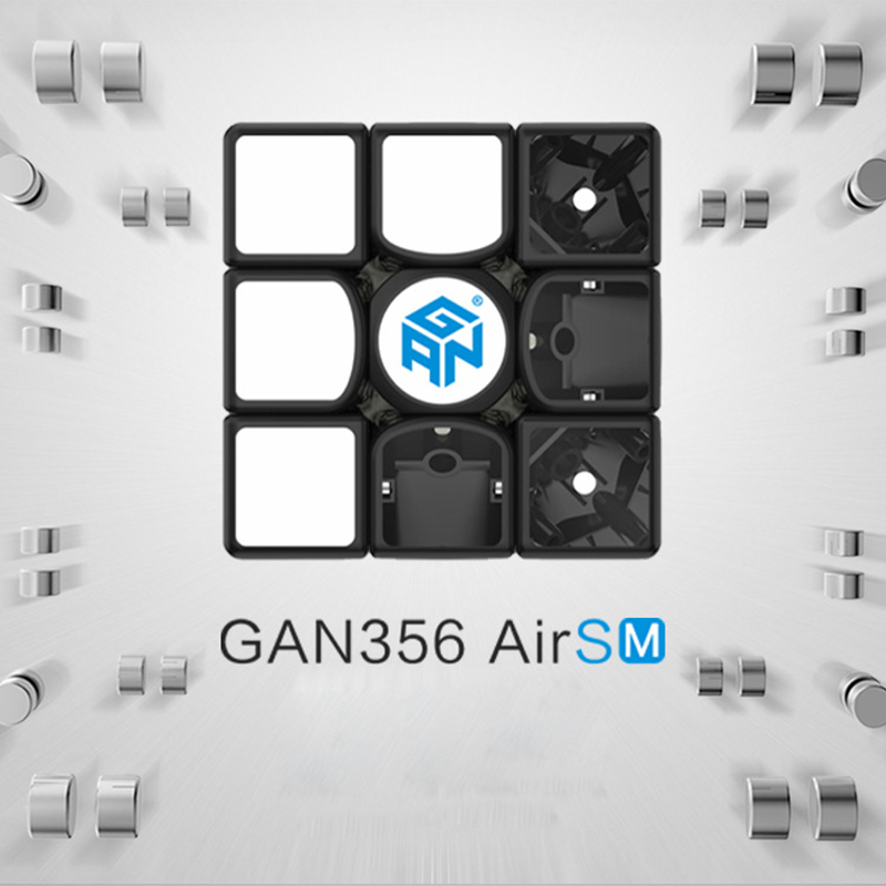 GAN 356 Air SM Magic Cube 3x3x3 Magnetic Speed Puzzle Gan356 AirSM version Competition Cube Educational Toys 56mm цена