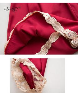 Image 5 - Sexy vrouwen Robe & Gown Sets Herfst Winter 4 & 5 Stuk Pyjama Sets Nachtkleding Womens Slaap Set Faux zijden Gewaad Femme Lingerie