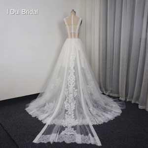 Image 3 - Lace Illusion Wedding Dresses Sexy New Style Real Photo Factory Custom Made Bridal Gown